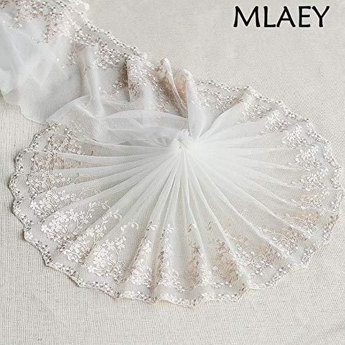 2 meter Off-white geborduurde bloem Lace Trim hoge kwaliteit Lace stof DIY Craft & naaien jurk kleding accessoires