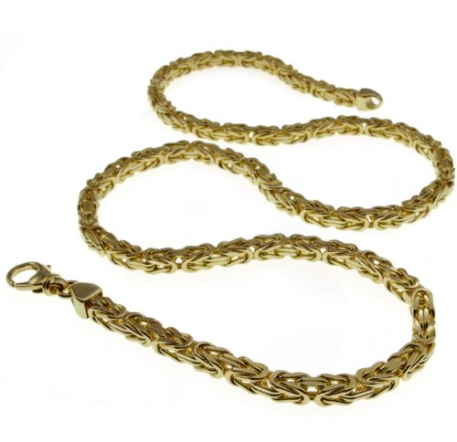 6mm Königskette 70cm - 750 Gold Gelbgold
