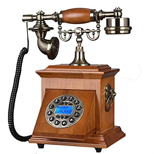 Teléfono inalámbrico Teléfono inalámbrico GSM SIM Tarjeta de acceso inalámbrico fijo de la línea horizonte fijo antiguo teléfono retro de Ministerio del Interior del hotel Madera Metal Para Elder de l