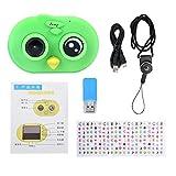 Cámara para niños Pantalla táctil de 2 Pulgadas para niños, cámara de Video Digital, niños, Juguetes, Aves, Mirando(Verde)