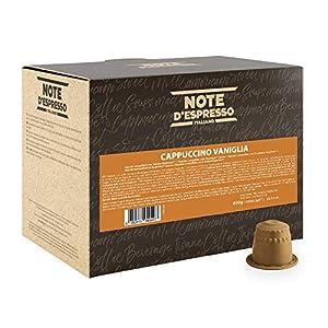 Note D'Espresso Cápsulas de Capuchino y Vainilla - 100 x 6,5 g, Total: 650 g