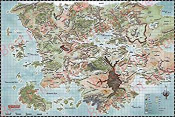 Best Print Store - Dungeons and Dragons Map of Faerun Poster Print  16x24 inches