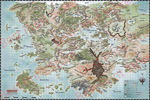 Best Print Store - Dungeons and Dragons, Map of Faerun Poster Print (16x24 inches)