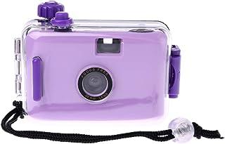 WOVELOT Kids Film Camera Vintage Film Camera Waterdicht en Schokbestendig met Behuizing Case (Paars)