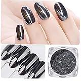 Nail decorazione di arte Chrome pigmento polvere Manicure Diy 1g Magic Mirror nero del chiodo della polvere di scintillio
