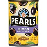 PEARLS Ripe Pitted, Jumbo Black Olives, 5.75 oz, 12-Cans