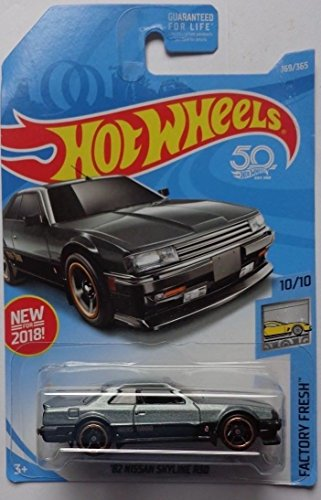 Hot Wheels 2018 50th Anniversary Factory Fresh '82 Nissan Skyline R30 169/365, Gray