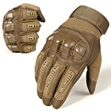 WTACTFUL Army Military Tactical Touch Screen Protection Full Finger Gloves for Motorcycle Motorbike Hunting Hiking Airsoft Paintball Riding Men Women Size Brown Medium