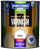 Johnstone's 309310 Woodcare Outdoor Yacht Varnish, Clear Gloss, 750 ml