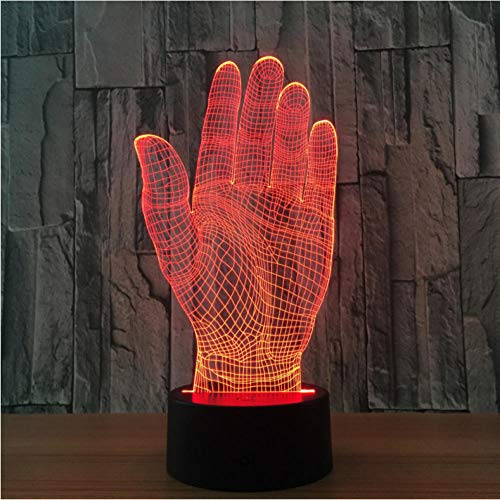 Wangzhuoyue Palm Hand 3D Led Nachtlicht Acryl Lampe Touch Switch Neuheit Beleuchtung Usb Tischlampe Halloween Party Office Dekor Geschenk