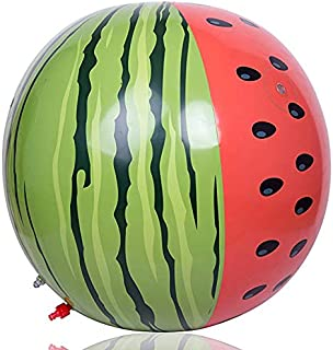 SHMCQPS Sprinkler 60 Watermelon Inflatable Sprinkler Toys Kids Toddlers PVC Inflatable Water Jet Ball Beach Ball Outdoor Lawn Play Water Color Ball Inflatable Water Spray Watermelon