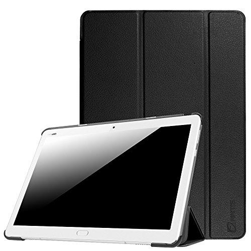 Fintie Hülle für Huawei Mediapad M3 Lite 10 - Ultra Dünn Superleicht SlimShell Hülle Cover Schutzhülle Etui Tasche mit Zwei Einstellbarem Standfunktion für Huawei Mediapad M3 Lite 10 Zoll, Schwarz
