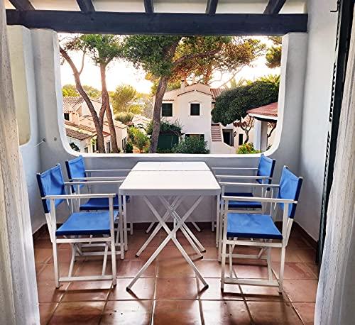 Maxchief Mesa Plegable Bistrot 70 ZOWN Blanca balcón, Acero, 69 x 69 x 74cm