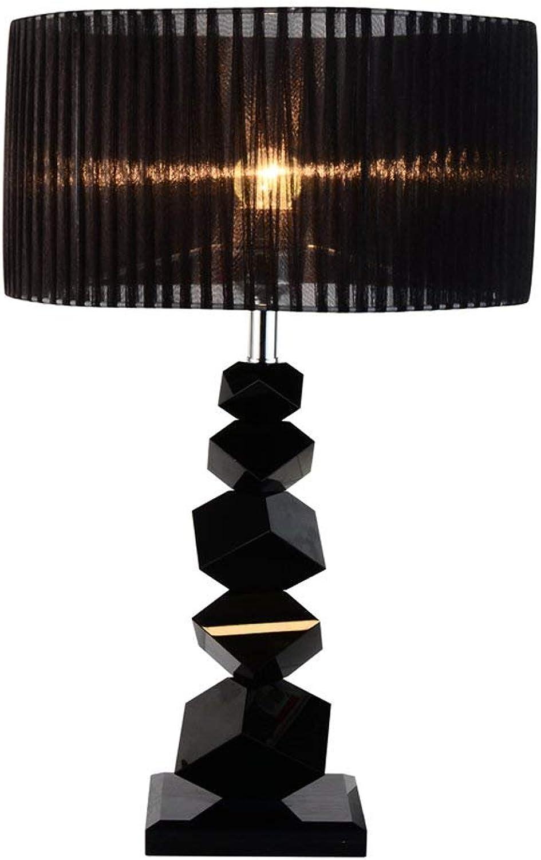 DSJ Tischlampe Modern Simple schwarz Crystal Schlafzimmer Zimmer Nachttischlampe Creative Jane Europäische Lampe B07GF1HYHX   Verschiedene Stile