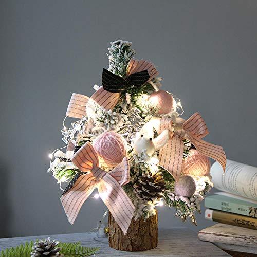 Topashe Material PVC Árbol de Navidad Artificial Acebo Natural,Mini árbol de Navidad...