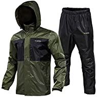 100% polyester-Rodeel jacket and trousers can effectively prevent 95% UV, durable, wrinkle resistant and easy to clean Waterproof - Fabric with a layer of waterproof fabric can ensure excellent waterproof effect Rodeel raincoat features an adjustable...