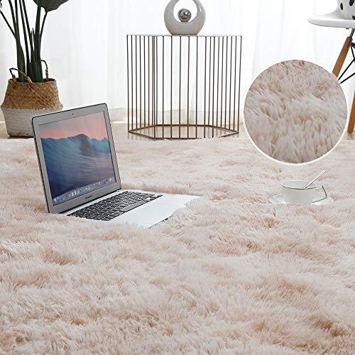 JINGMIAO Alfombra de felpa para salón, gruesa y mullida, alfombra para el...