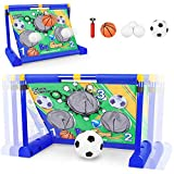 Electric Moving Football Goal Net Set, Football Target Toss with Footballs and...