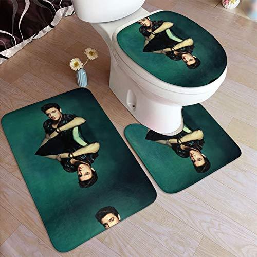Elvis-Presley - Alfombrilla antideslizante para baño y baño (3 piezas)