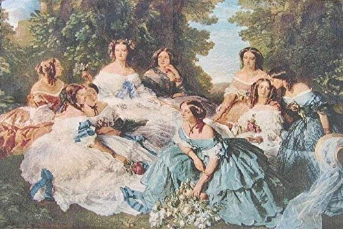 DaDa Bedding French Rococo Tapestry - 'Her Ladies in Waiting' Spanish Party Classical Baroque Woven Wall Hanging