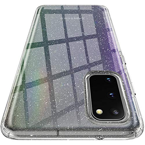 Spigen Liquid Crystal Glitter Kompatibel mit Samsung Galaxy S20 Hülle, Glitzern TPU Silikon Handyhülle Schutzhülle Case Crystal Quartz ACS01140