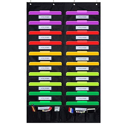 Godery Tür hängende Datei Organizer / Ordner Pocket Chart, 20 Pocket + 6 Werkzeug Tasche Cascading Wall Organizer, perfekt für Home Organizer, Schule Pocket Chart, Office Bill Archivierung