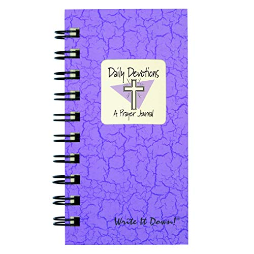 Daily Devotions, A Prayer Journal - MINI Lilac Hard Cover (prompts on every page, recycled paper, read more...)