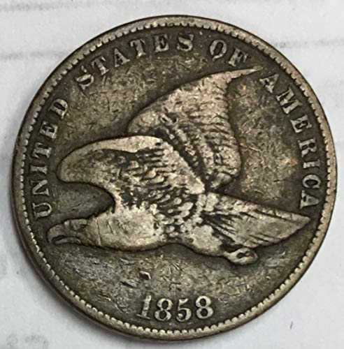 1858 Flying Eagle Penny Small Letters 1c Fine
