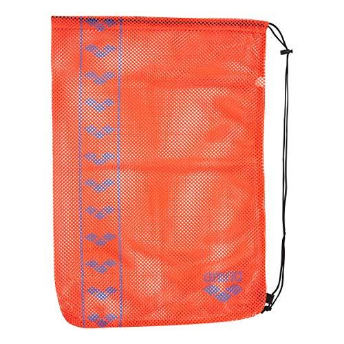 arena(アリーナ) プールバッグ 水泳用 メッシュバッグ L AEANJA12 Hレッド × ターコイズ F