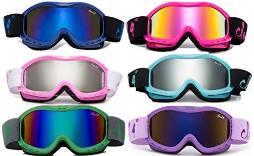 Cloud 9 - Kids Boys & Girls Snow Goggles Tailgrab Anti-Fog UV400 Snowboarding Ski Popular Colors to Choose! (1 Pair)