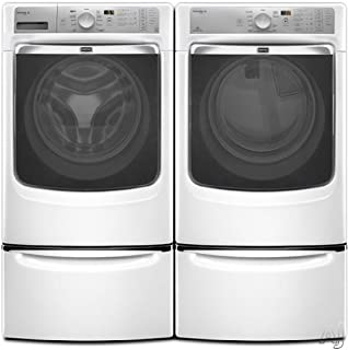 Maytag Maxima XL™ Front Load Steam Washer and Steam Dryer SET (Electric Dryer) with Pedestals