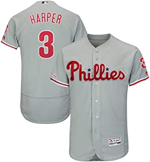 fbc3ac0b0 Majestic Athletic Bryce Harper Philadelphia Phillies Majestic Away Flex  Base Authentic Collection Player Jersey Gray