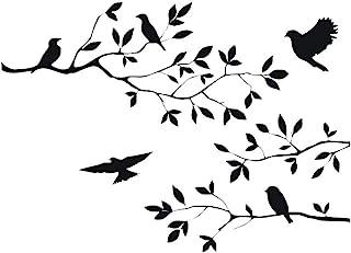 CUNYA Autocollants muraux amovibles en vinyle pour décoration de chambre d'enfant, Motif branches d'arbre, Noir, 55,9 x 3...