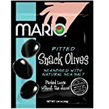 Mario Camacho Brineless Pouch Olives, Natural Sea Salt Ripes, 1.05 Ounce (Pack of 12)