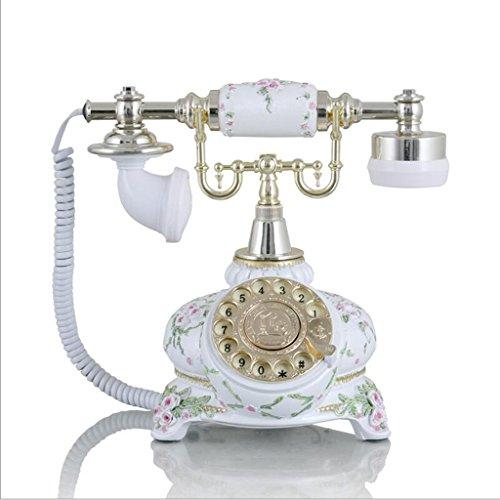 ZhuFengshop Metal Rotary wijzerplaat/vaste telefoon retro telefoon/mechanische bel voor school, huis, kantoor