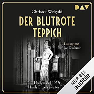 Der blutrote Teppich - Hollywood 1922     Hardy Engel 2              Autor:                                                                                                                                 Christof Weigold                               Sprecher:                                                                                                                                 Uve Teschner                      Spieldauer: 17 Std. und 34 Min.     10 Bewertungen     Gesamt 4,7