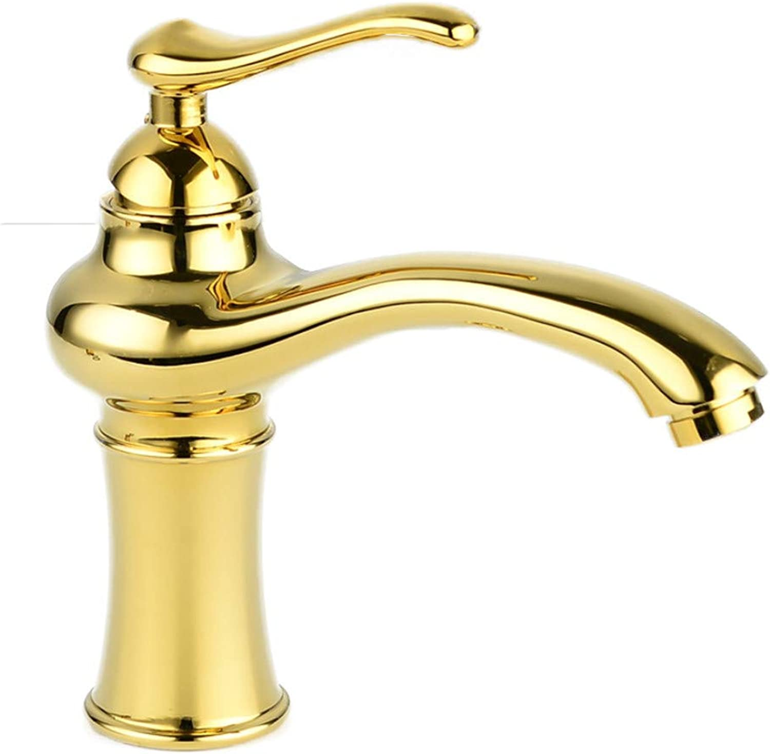 redOOY Taps Basin Faucet Antique Faucet Water Classical Basin Faucet gold Faucet Hot And Cold Water Faucet gold
