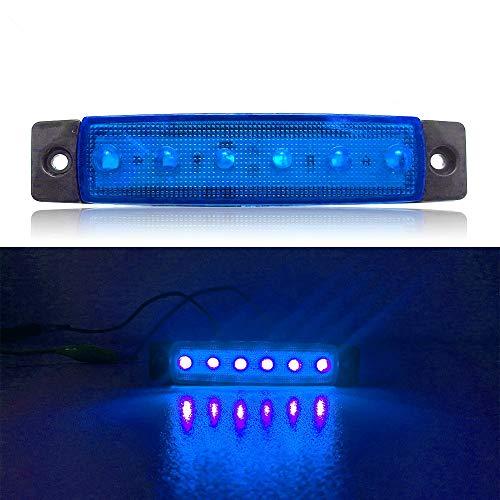 Zhangl LED-lampen, 4 stuks, 12 V, 6 SMD, auto, bus, trucks, wagons, buitenlampen, LED-display, achterlicht (rood), random color