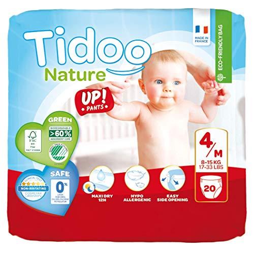 Tidoo 20 Culottes d'apprentissage jetables pour bébé Taille 4