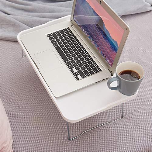 JONJUMP - Tavolino da tavolo per computer portatile, con gambe pieghevoli, vassoio per la colazione e il letto, per mangiare e