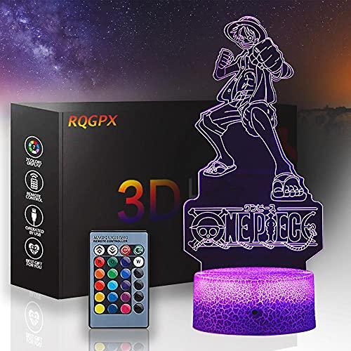 Lámpara de ilusión 3D de una pieza decoración de escritorio mono D Luffy regalo perfecto para niños y decoración de habitación Darth Vader personajes