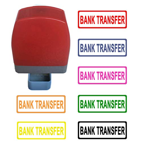 Bank Transfer Zelf Inking Rubber Stempel
