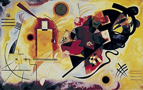Artland Qualitätsbilder I Kunstdruck Wandbild Gemälde Bild Kunst - Größe 63 x 39 cm - Muster geometrische Formen Gelb A7WH