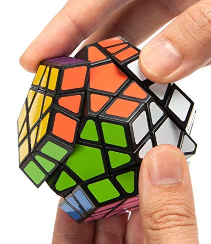 Speed Cube, 12 Sided Pentagonal Dodecahedron Profession Cube Puzzle Toy, Easy Turning and Smooth Play, Solid, Durable and with Vivid Colors