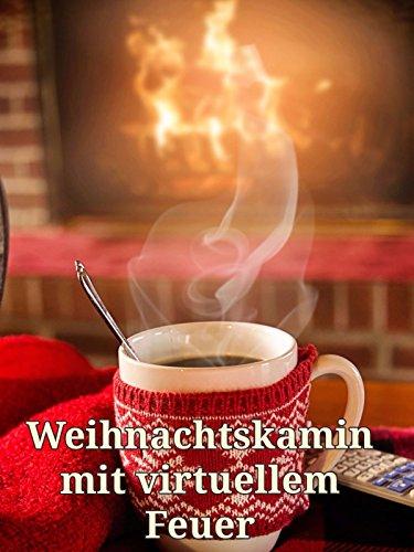 Weihnachtskamin mit virtuellem Feuer