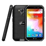4G Rugged Phones, 2020 Ulefone Armor X7 Android 10 Dual SIM, Rugged Smartphone Unlocked, IP68/69K Waterproof Smartphone, 13MP + 5MP Cameras, 2GB + 16GB, NFC, OTG, Face Unlock, Finger Reader - Black
