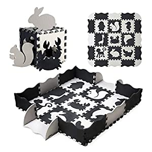 Baby Play Mat Floor Mat Foam Puzzle Playmat, Non-Toxic Waterproof Crawling Mat for Toddlers and Infants