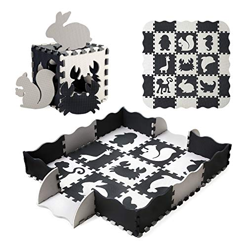 Baby Play Mat Floor Mat Foam Puzzle Playmat NonToxic Waterproof Crawling Mat for Toddlers and Infants