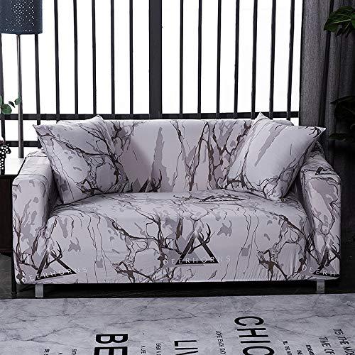 ASCV Plaid Sofabezüge für Wohnzimmer Elastic Stretch Geometry Schonbezüge Funda Sofa Stuhlbezug Möbelschutz A26 1-Sitzer