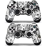 Vanknight Vinyl Decals Skin Stickers 2 Pack for PS4 Dualshock Controllers Skin Anime Funny Girls